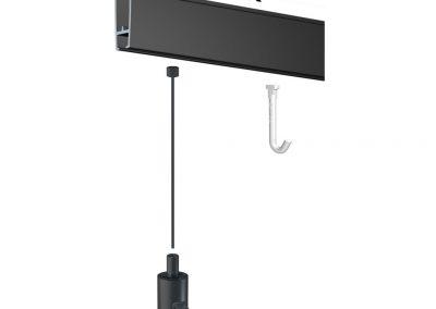 подвес указателей и планшетов к потолку