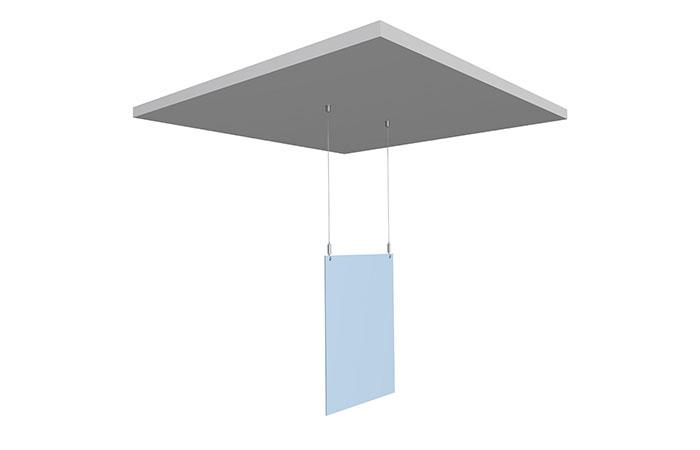 Система подвеса инфо планшетов — потолок